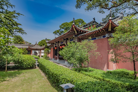 Architectural Landscape of Tianshifu Road, Guanqing Ancient Town, Longhu Mountain, Yingtan City, Jiangxi Province