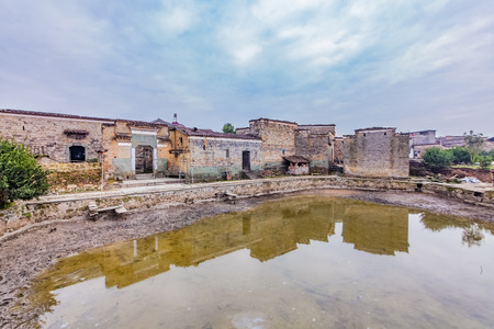 Residential Building Landscape of Zhuqiao Ancient Village, Yingtan City, Jiangxi Province