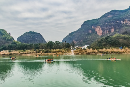 Natural landscape of Tunxi River Basin, Longhu Mountain, Yingtan City, Jiangxi Province