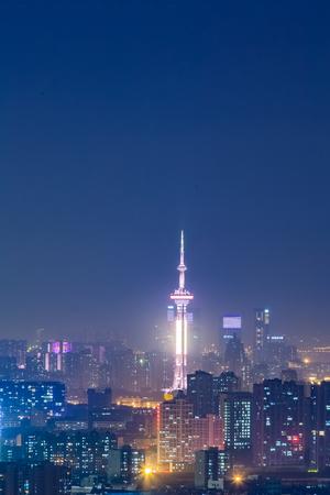 Urban architecture landscape of Nanjing City, Jiangsu Province Editöryel