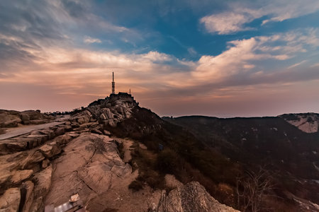 Natural landscape of Taishan National Geological Scenic Area in Tai'an County, Shandong Province
