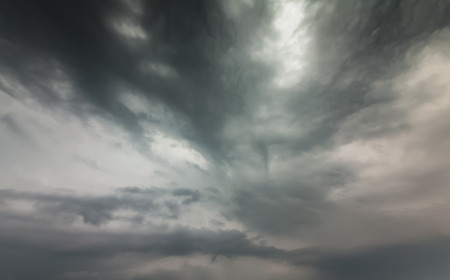 Sky with typhoon clouds 스톡 콘텐츠 - 115156783