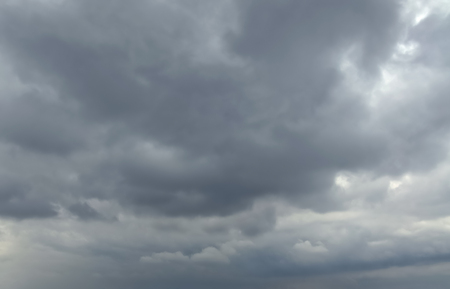 Sky with typhoon clouds