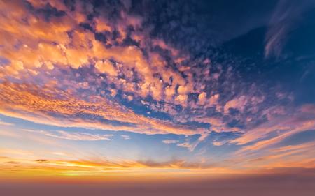 Dusk evening clouds
