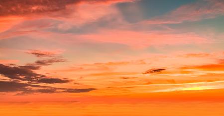 Evening sky clouds