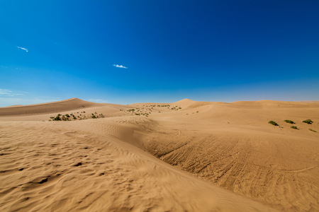 Inner Mongolia Tengger Desert Landscape 版權商用圖片