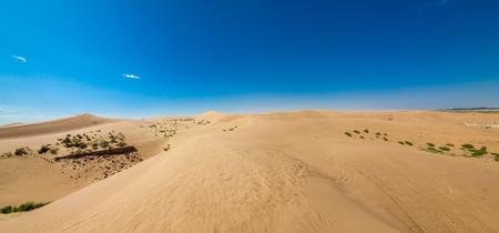 Inner Mongolia Tengger Desert Landscape 版權商用圖片 - 124435025