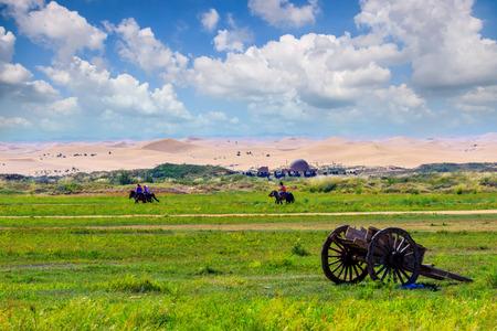 Inner Mongolia Tonghu Grassland scenic view 版權商用圖片 - 124438451