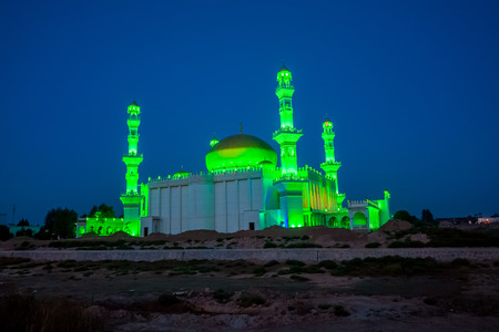 Night view of Yinchuan City Mosque, Ningxia