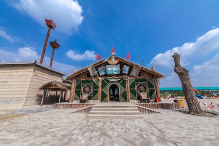 Architectural Landscape of Zhenbei Fort Western Film City, Yinchuan City, Ningxia 新聞圖片