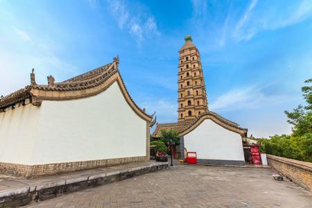 Architectural landscape of Haibao pagoda in Yinchuan City, Ningxia