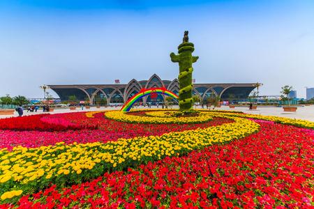 Yinchuan City Railway Station Square Landscape