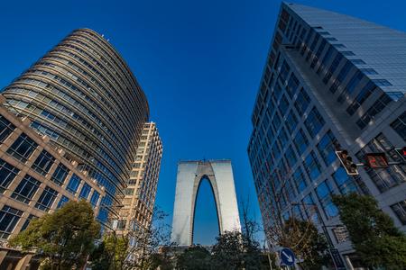 Urban architecture landscape of Suzhou City, Jiangsu Province