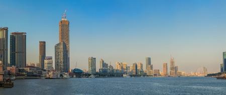 Shanghai Huangpu River North Bund Landscape
