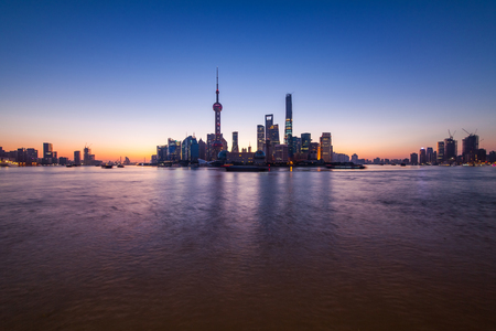 Shanghai Lupu River Bund Lujiazui Building Landscape