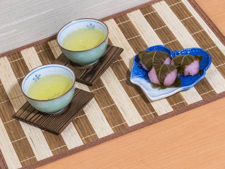 sencha tea: Tea Stock Photo