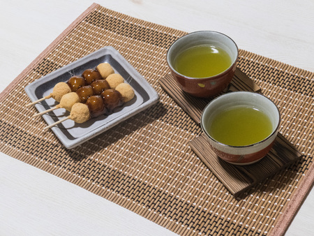 sencha: Japan and the Japanese-style confection Stock Photo