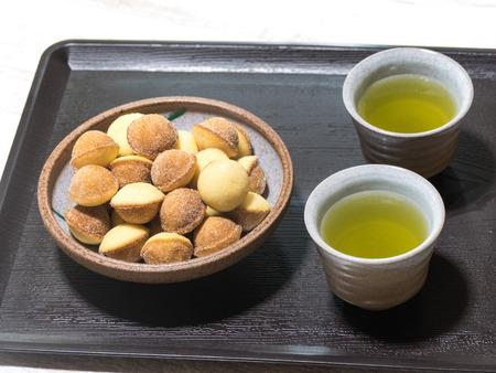 sencha: Tea and sweets Stock Photo