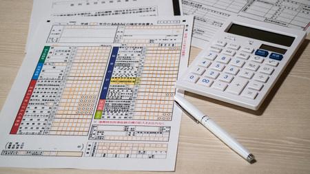 Steuererklärung Standard-Bild - 48833670