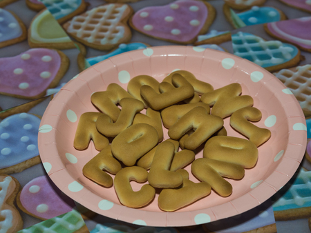 Alphabet biscuits