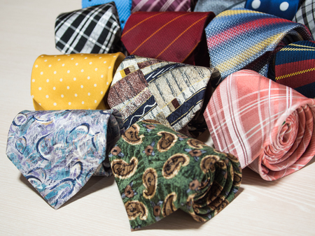 collection of colorful ties 写真素材