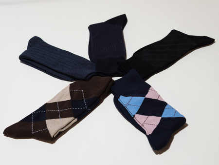 Socks with gray background.