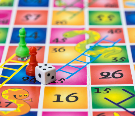 Snakes and ladders children game
