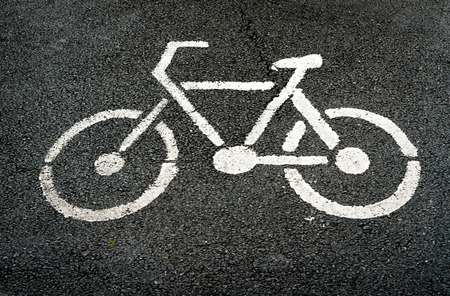 sign of Bike lane Banco de Imagens