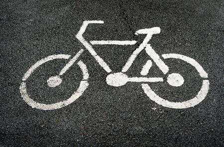 lane: sign of Bike lane Stock Photo