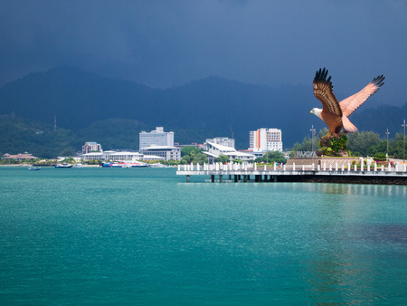The Eagle statue, Landmark of Langkawi island, Malaysia Banco de Imagens