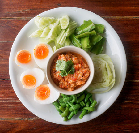 THAI FOOD,THAI CHILI AND SHRIMP DIPPING SAUCE