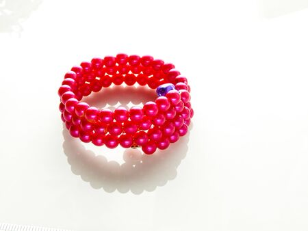 Multi-colored bracelets with beads. Colourful childs bead bracelet.