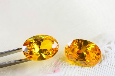 Cubic zirconia gemstones, oval shape, various color gemstones 版權商用圖片
