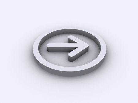 arrow in circle