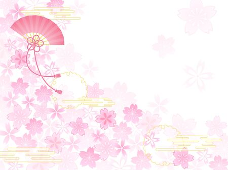 Spring background with Japanese cherry blossom