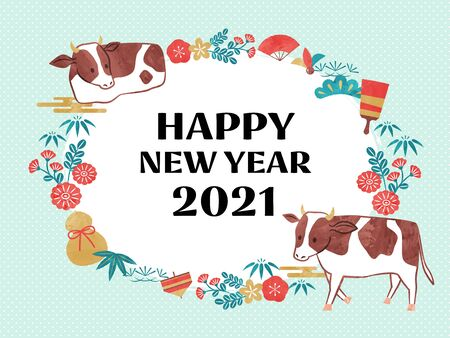 illustration of cow for new year
