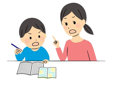 illustration of studying elementary students  Vectores