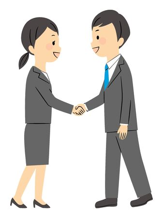illustration of buisness manner in office  イラスト・ベクター素材