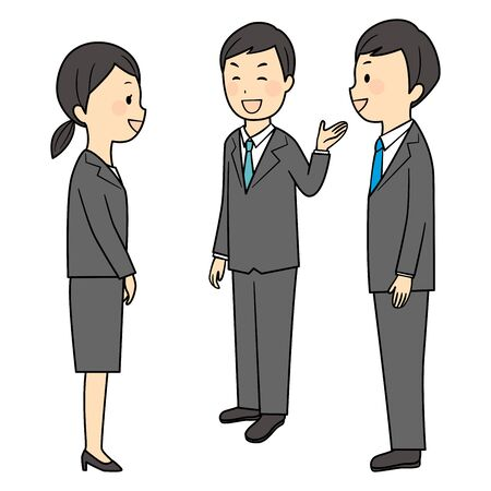 illustration of buisness manner in office Illustration