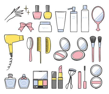 illustration of bath and make up Ilustração Vetorial