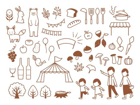 illustration of autumn gourmet festival