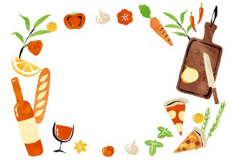 frame of cooking and deli Illusztráció