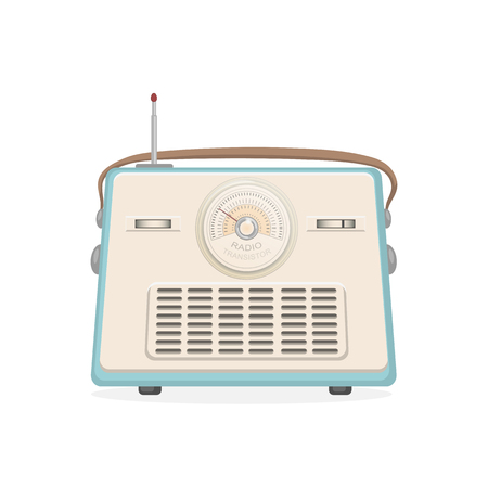 Vector illustration of old radio.