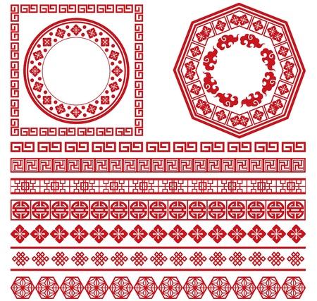 set di cinese raccolta cornice decorativa