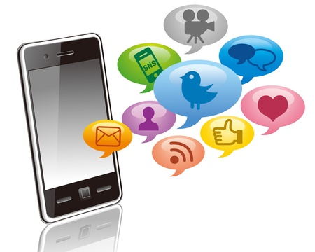 Social media on Smartphone  Stock Vector - 12328728