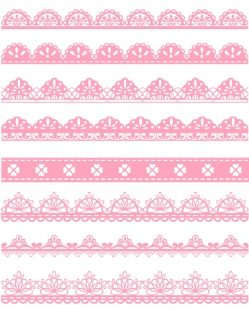 pink ribbon: straight lace Illustration