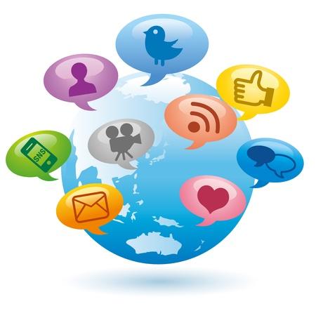 smart media on earth Stock Vector - 12328729