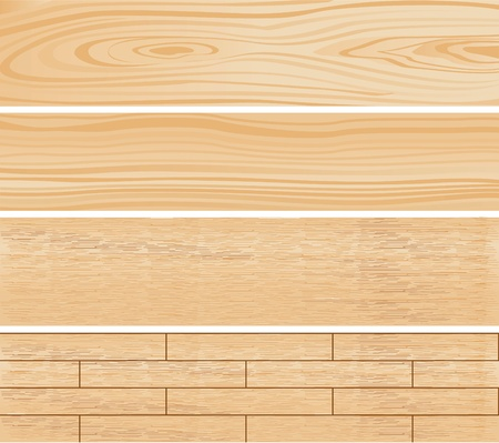 Wooden materials set illustration Vector