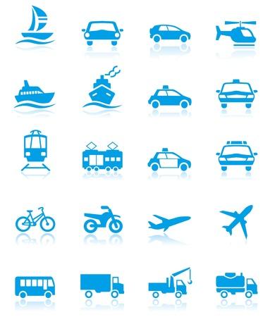Ikony Transportu Ilustracje wektorowe