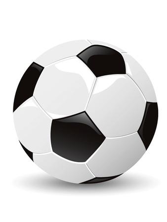 ballon foot: un ballon de soccer isolé Illustration